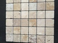 Mosaic wall and floor tiles in natural stone x 17 squares