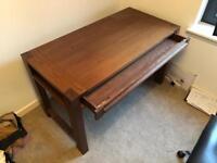 John Lewis Desk   Dark Brown Wood