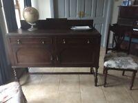 Antique/ vintage dark oak sideboard