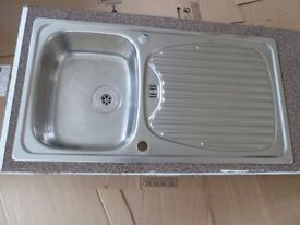 Stainless steel Kitchen / Utility sink and drainer in very good condition