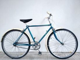 """(2618) 24"""" 18"""" RALEIGH SINGLE SPEED TOWN CITY BIKE BICYCLE Age: 11+, 145-160cm"""