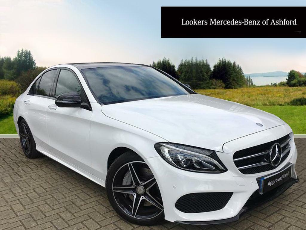 Mercedes benz c class c 250 d amg line premium white for Mercedes benz account