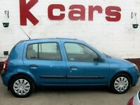 CHEAP FIRST CAR 2002 RENAULT CLIO 1.2 EXPRESSION LONG MOT LOW INSURANCE