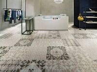 MANCHESTER TILE WAREHOUSE SALE - 6.9m2 60x60cm Italian Pattern tiles (RRP £295)