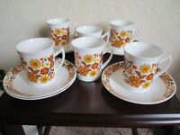 "Vintage, Retro - Elizabethan ""Carnaby"" - coffee set - 6 cups and 6 saucers"