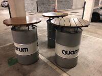 Oil drum tables x3