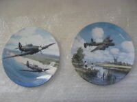 HURRICANE OVER WHITE CLIFFS OF DOVER & LANCASTER LOW OVERHEAD - ROYAL DOULTON, LIMITED EDITION