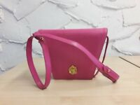 Lanvin designer handbag. Fuchsia pink leather