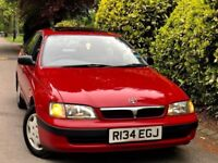 **VERY LOW MILES** TOYOTA CARINA 1.8 CD AUTO + 23 TOYOTA SERVICE STAMPS + 1OWNER + SHOWROOM CONDITIN