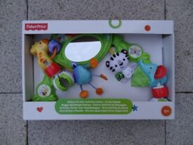 FISHER PRICE RAIN FOREST DELUXE STROLLER ACTIVITY CENTER ARCH.