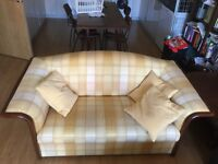 Antique solid frame sofa (1-2 available)