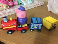 Pull along peppa carriages