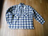 New Never Worn Mens Checked Padded Shirt Size XXL (Blue,Cream, Brown)