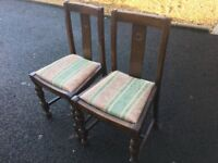 Two Old Dining Room Chairs.