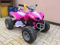 Child's Electric Car Pink 4yrs+ Bought last year immaculate condition comes with charger 12v