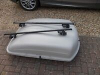 car roof box and alford roof rack