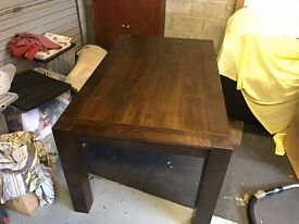 Dark Wood Dinning Table
