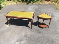 Small coffee table and matching side table