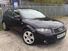 "AUDI A3 1.9TDI SPORT 3 DOOR 2005 SAT NAV ALLOY WHEELS ""L@@k CHEAP "" GOOD CONDITION CLEAN CAR"