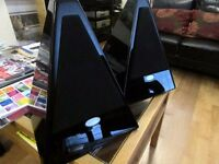 Mistral Pyramid Speakers Black Hi-Gloss Bookshelf Very Rare