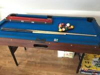 Folding Snooker Table 6ft x 3ft