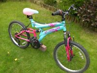 """Childs Dunlop sport Front and Rear suspension Mountain bike, 20""""Alloy wheels 14"""" frame, 5 gears"""