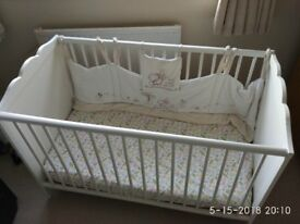 Baby cot bed+mattress+cover