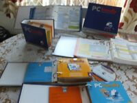 Full set PC Files / Discs / Books , Learn Computing skills, Internet, Excel, Word etc £5 to clear