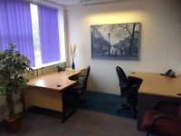 Fully Furnished or Unfurnished 3-5 person Office Suite Space ONLY £495 per month