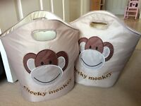 2 toy storage bags