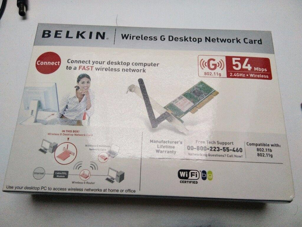 Belkin wireless network card.