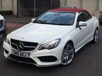 STUNNING!! MERCEDES BENZ E220 AMG LINE CONVERTIBLE//RED ROOF/FSH