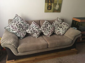 3 Seater DFS Fabric Sofa - immaculate condition, 1 year old