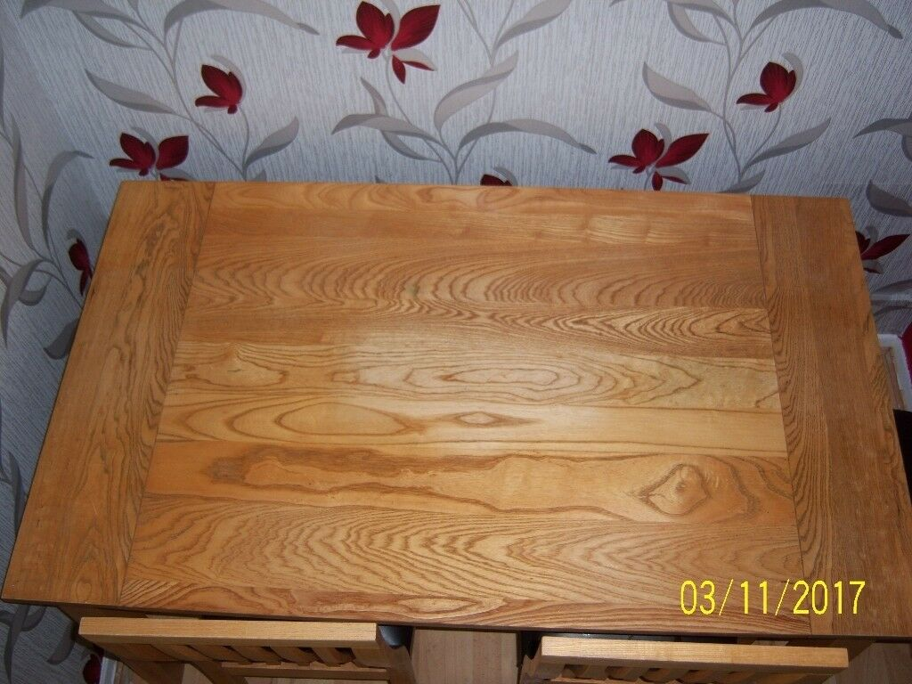 Solid Oak Dining Table only very good quality.
