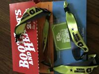 4 boots and hearts tickets plus rv camping will deliver
