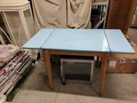 Blue Formica Table