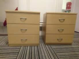 3 Drawer Small Chest of Drawers x2