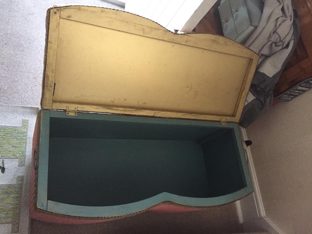 Vintage ottoman storage box needs some love