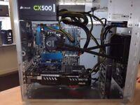 i7 Gaming PC - liquid cooled , 256GB SSD
