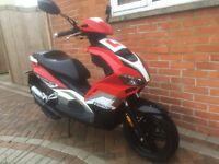 2015 beeline pista 50 cc scooter moped 2 stroke mint like new 6000 miles