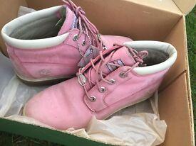 Ladies Pink Timberlands