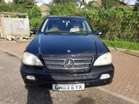 2004 Mercedes-Benz M Class 2.7 ML270 CDI Special Edition 5dr Automatic @07445775115@