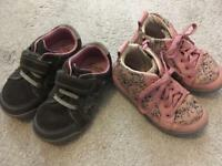 Clarks size 6 1/2 - two pairs of winter girls shoes/boots