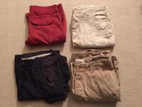 Job lot of 4 pairs of men's shorts. All worn once. Hollister, Abercrombie & Fitch, Firetrap,Timezone