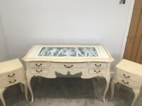 French dressing table and matching bedside tables