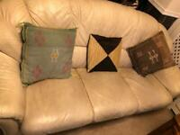 2 leather sofas for sale 3 seater and single