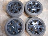 "SMART FORTWO 15"" inch ALLOY WHEELS BLACK"