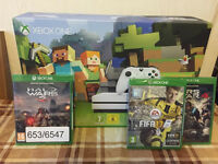 XBOX ONE S WHITE 500GB - MINCRAFT GAME BUNDLE - BRAND NEW & SEALED