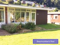 Self catering holiday chalet 5 minute walk from sandy beach on the Gower Peninsular