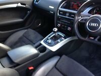 Audi A5 S Line, Black, great spec, rare sunroof model, good condition inside and out